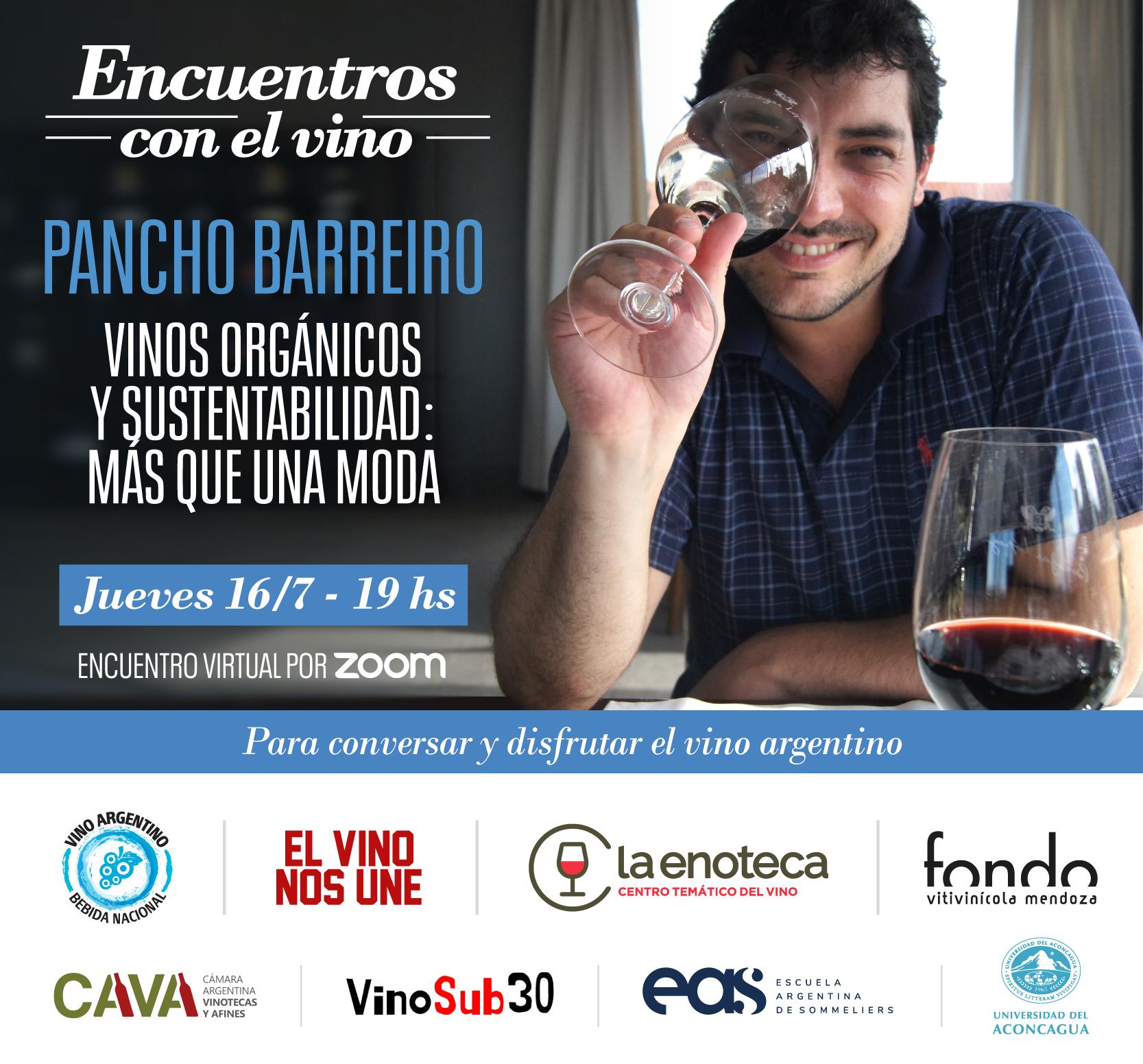 flyer encuentro vinos organicos